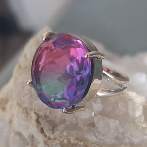 Jewelry - Multi colored Tourmaline Sterling Silver Ring